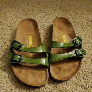 Green Birkenstock Ibiza Sandals